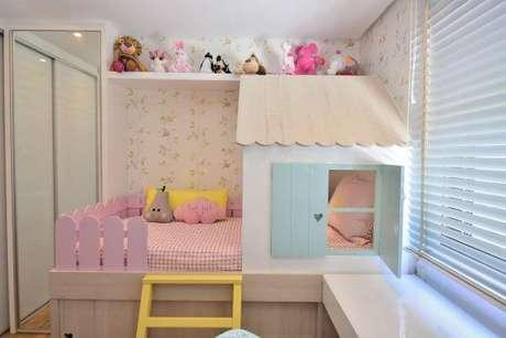 51. Decoração de quarto de menina com cama de casinha – Por: BG Arquitetura