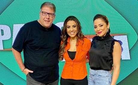 Luciano Faccioli, Duda Rodrigues e Gisele Alves: trio faz apresenta ao vivo o Papo em Dia na Rede Brasil