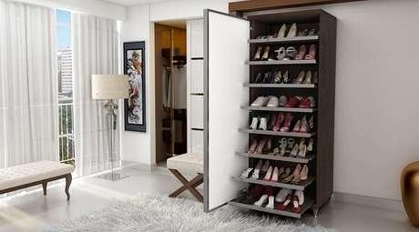 28. Modelo de sapateira com espelho na porta. Fonte: Pinterest