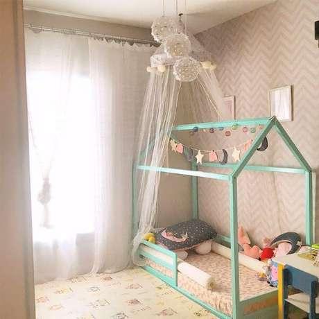 60. Quarto pequeno com cama montessoriana casinha – Por: Kraft Wrk