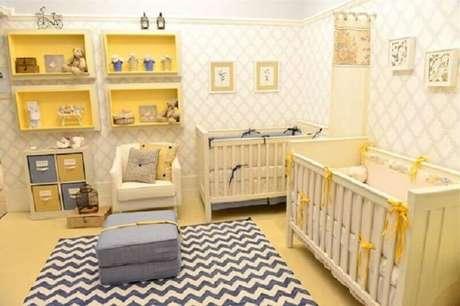 5. Evite usar o tapete felpudo cinza para decoração de quarto infantil – Foto: Andreza Goulart