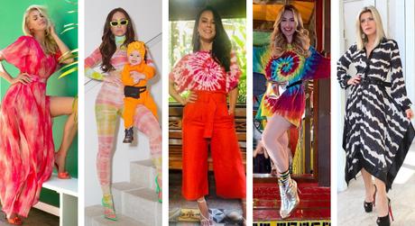 Famosas com tie-dye (Reprodução/Instagram/@paollaoliveirareal)