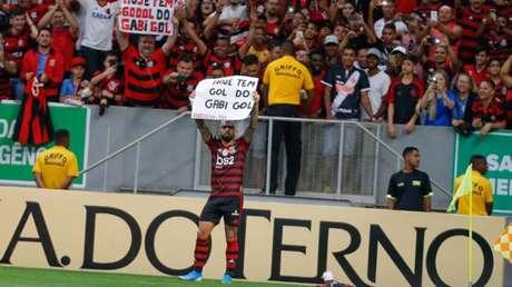 Comemoração no clássico pode render punição ao atacante Gabriel Barbosa (Foto: Alexandre Vidal/Flamengo)