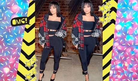 Deu pra notar que a Kylie gosta de roupas bem justinhas né? Ressaltar as curvas é com ela mesma!