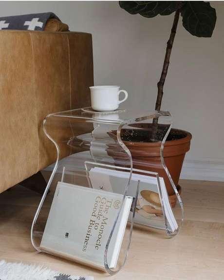7. O revisteiro de mesa também é muito versátil. Foto: Instagram