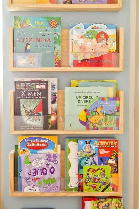 6. O revisteiro infantil também costuma ser reforçado. Foto: Ameise Design Estúdio