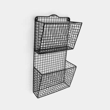 39. O revisteiro pode se assemelhar a uma cesta. Foto: Elo7