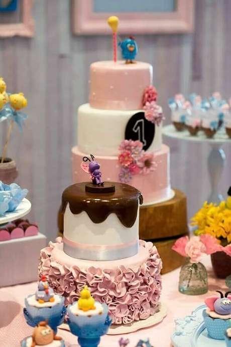 15. Invista em detalhes bem delicados para a decoração de festa da Galinha Pintadinha rosa – Foto: Pinosy