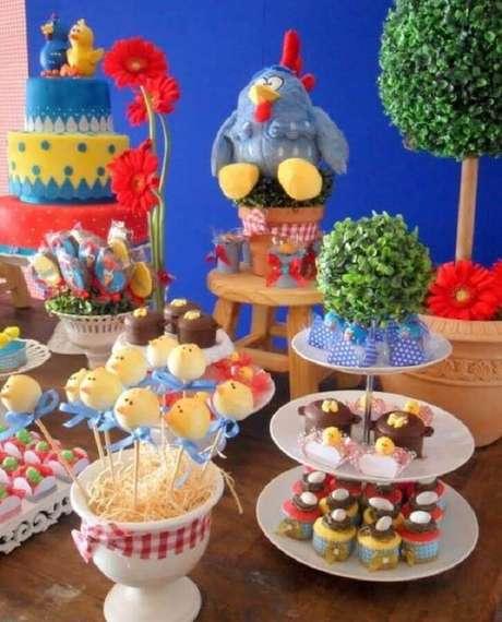 2. O primeiro passo para decoração de festa da Galinha Pintadinha é pensar na paleta de cores do evento – Foto: Casa e Festa