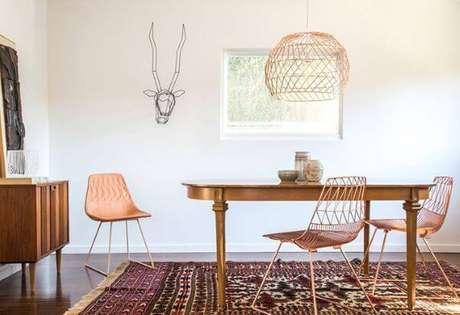 30. Pendente aramado grande para sala de estar – Por: Pinterest