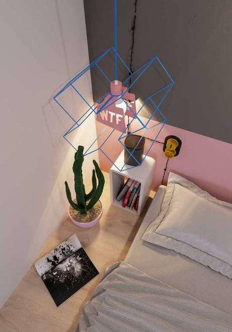 36. Pendentes aramados modernos para quarto fashion – Por: Pinterest