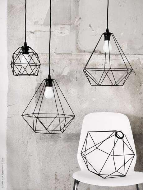 39. Use diferentes formatos de pendente para decorar sua casa – Por: Pinterest