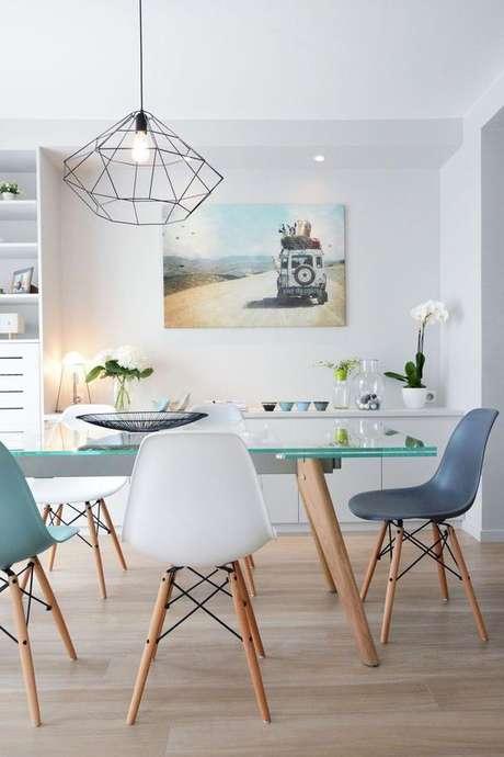 10. Pendente aramado preto para sala de jantar – Por: Pinterest