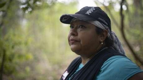 Graciela Pérez Rodríguez ecabeça a busca por corpos de desaparecidos no local