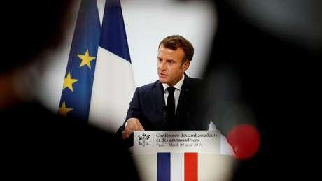 Neste ano, Macron anunciou que projeto de exploração na 'Montanha de Ouro' está suspenso por dar sinais de 'incompatibilidade' com a agenda ambiental francesa