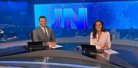 Márcio Bonfim e Cristina Ranzolin foram os primeiros dos 27 âncoras que realizarão o sonho de apresentar o 'JN' por uma noite