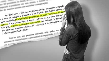 Dilma P., de 37 anos, pede mudança de seu nome de batismo pelas chacotas que vem sofrendo desde que ex-presidente sofreu impeachment. (Crédito: Kako Abraham/BBC)