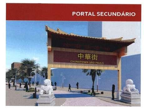 Chinatown paulistana teria dois pórticos com temática chinesa