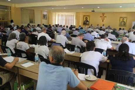 A Comissão Especial Episcopal para a Amazônia, em Belém, em encontro preparatório para o Sínodo, em Roma