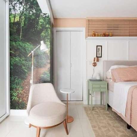 7. Para um quarto compacto invista em modelos de poltrona pequena para quarto – Foto: DeCora para Vida