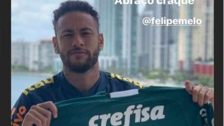 Neymar está com a Seleção Brasileira para dois amistosos nos Estados Unidos (Foto: Reprodução/Instagram)