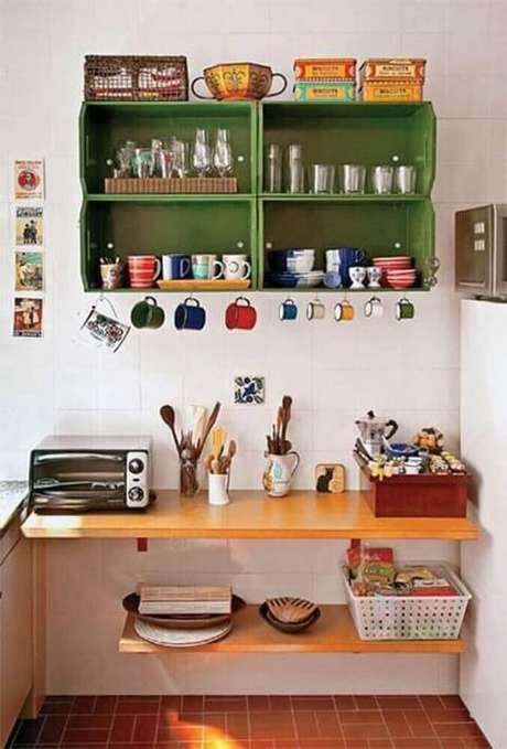 9.Uma decoração com caixotes de madeira pintados também é algo ótimo. Foto de Blog di Gromia