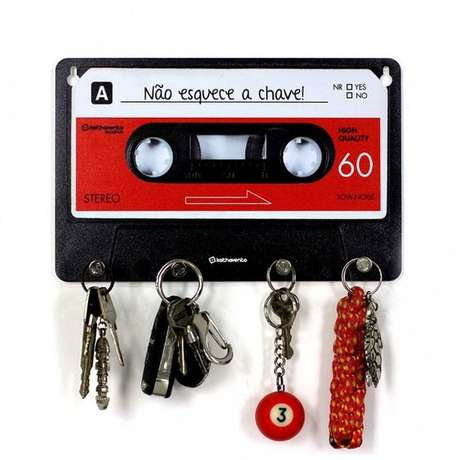 6. O limite do porta chaves criativo é a imaginação de quem o faz. Foto: OusecomH