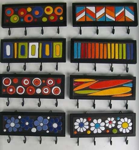 4. O porta chaves artesanal é um modelo mais pessoal. Foto: Pinterest