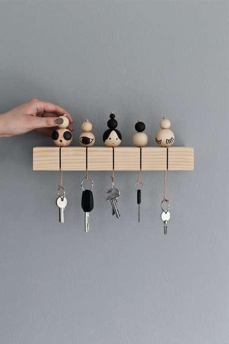 11. Pequenos detalhes podem fazer toda a diferença em um porta chaves. Foto: Pinterest