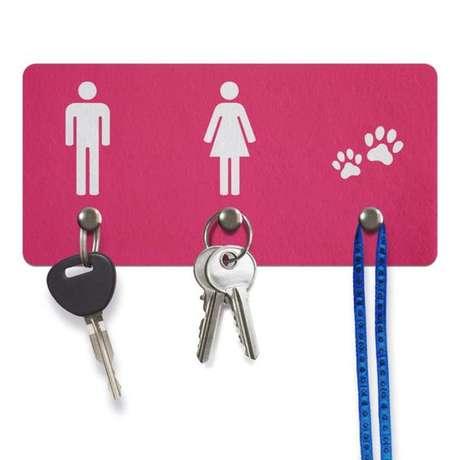 13. O porta chaves pode ser mais divertido do que muitos pensam. Foto: Amo Decorar