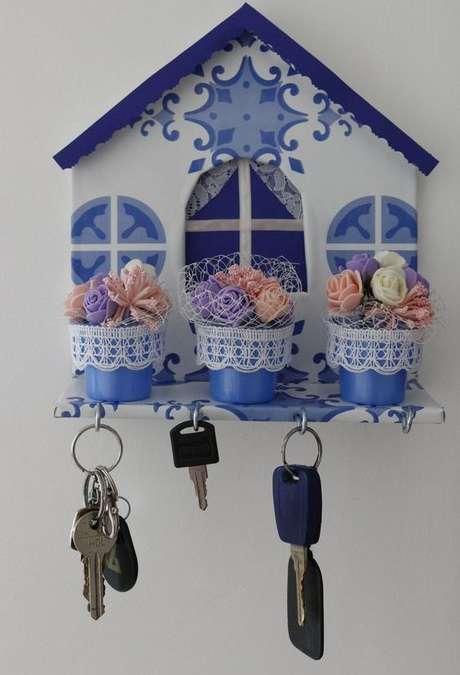 21. Muitos modelos deporta chaves usam o formato de uma casa. Foto: Ana Rogéria