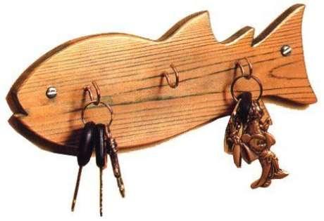 31. Este peixe é divertido e funcional como porta chaves. Foto: Artesanato Passo a Passo