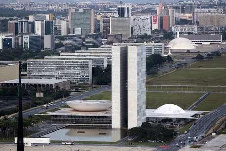 Vista aérea do Congresso Nacional, em Brasília