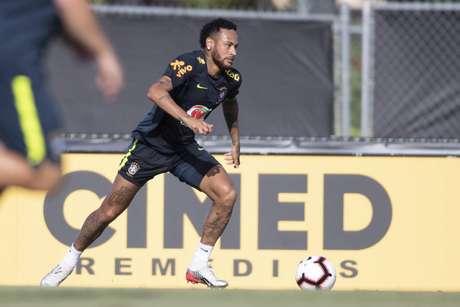 Neymar será titular contra a Colômbia (Foto: Lucas Figueiredo/CBF)
