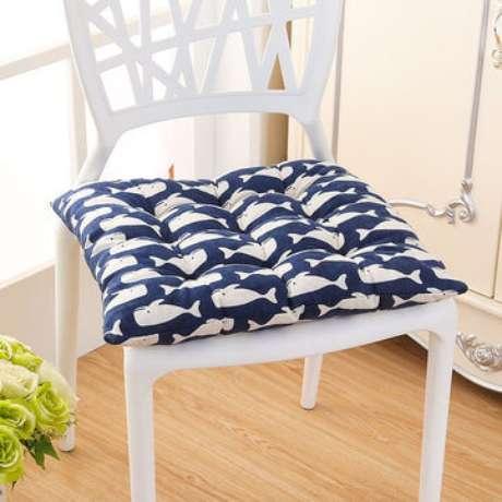19. Almofada para cadeira estampada para usar na cozinha – Por: Pinterest
