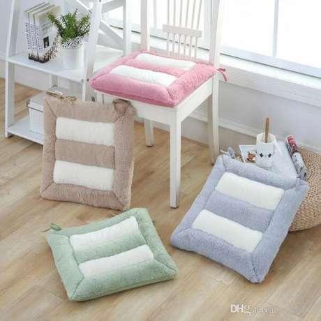 30. Almofadas para cadeira em diferentes cores – Por: DHgate
