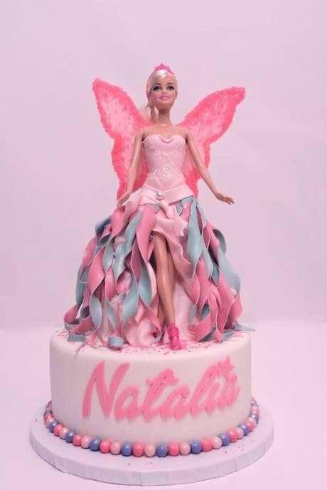 22. Bolo de festa da barbie fada – Por: Pinterest
