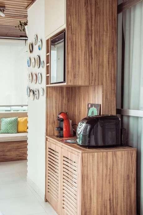 9. Invista em um espaço especial para montar o seu cantinho do café – Foto: Pinosy