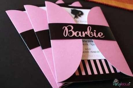 27. Convite para festa da barbie – Por: Partylicious