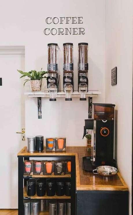 1. Invista em uma decoração bem charmosa para o seu cantinho do café – Foto: Pinterest
