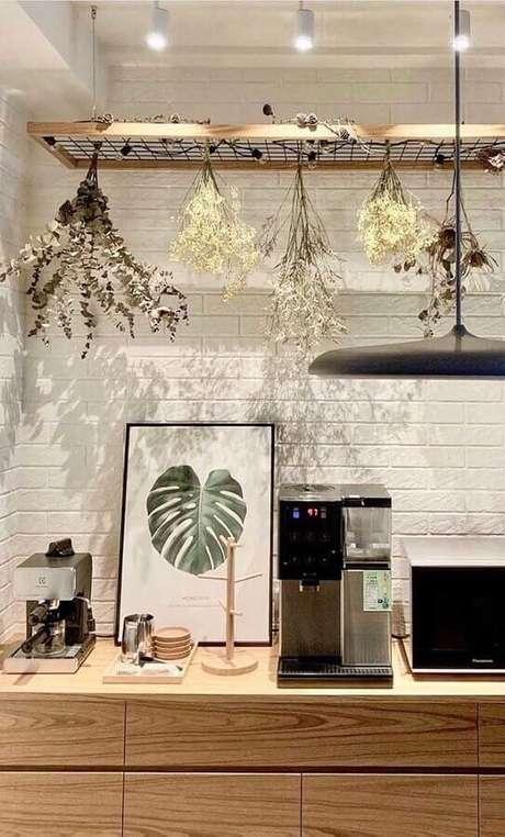 23. Decoração cantinho do café em cores neutras – Foto: Zozu
