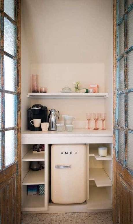 36. Cantinho do café simples e pequeno – Foto: Pinterest