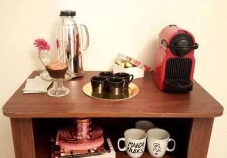 35. Decoração cantinho do café simples – Foto: Webcomunica