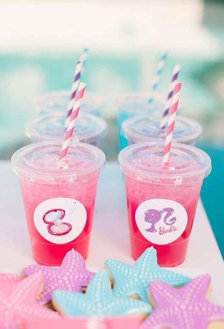 30. Personalize todos os detalhes da sua festa da barbie sereia – Por: Pinterest