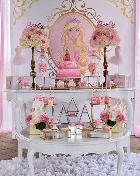 40. Decoração de festa da barbie provençal – Por: Pinterest