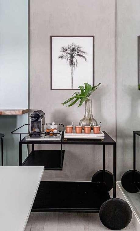 43. Decoração moderna e minimalista para cantinho do café – Foto: Pinterest
