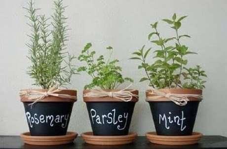 14. Faça vasos decorativos para plantas com frases e palavras divertidas para compor a decoração.