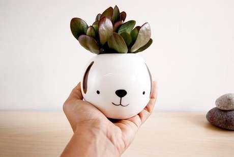 61. Vasos de plantas delicado de animal. Fonte: Pinterest
