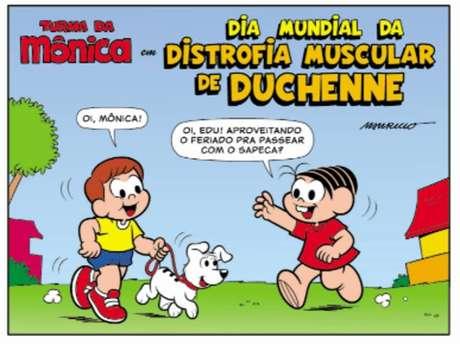 Terceira edição da revista da 'Turma da Mônica' sobre distrofia de Duchenne celebra o dia mundial da doença.