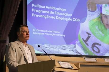 Christian Trajano é o responsável pela área de Educação e Prevenção ao Doping no COB (Foto: Rafael Bello/COB)